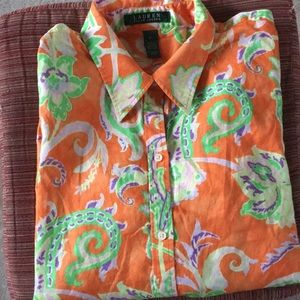 🌾Ralph Lauren XL Long Sleeve Button Front  Shirt